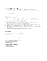 Resume Job Objective Examples by Sample Resume For Teacher Changing Careers Templates