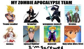 Zombie Team Meme - anime zombie apocalypse team meme by mrmarlin d71p by