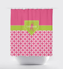 home plate softball shower curtain for girls chain link shop kids
