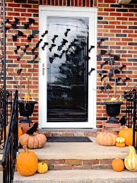 flying witch halloween decoration creepy front porch halloween decoration featuring human skull and