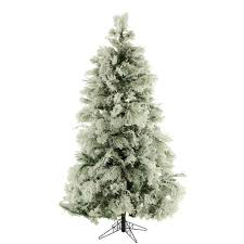 fraser hill farm 9 ft unlit flocked snowy pine artificial