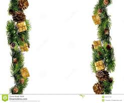 New Year Decoration Design by New Year Or Christmas Decorations Border Design Stock Photo