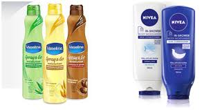 Bath Vs Shower Nivea In Shower Moisturiser Vs Vaseline Spray And Go Stephanie