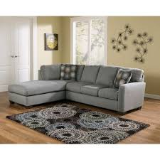 Modern Sectional Sofa With Chaise Signature Design By Ashley Zella Charcoal Contemporary Sectional