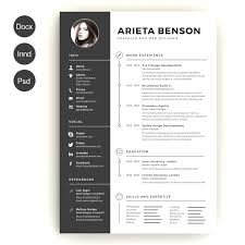 illustrator resume templates modern creative resume templates illustrator staggering design