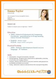 resume in pdf format 9 format of writing a curriculum vitae pdf child