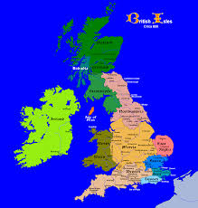 Hastings England Map by Map Of The British Isles Circa 800 See The World England And