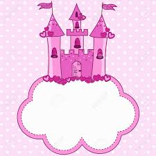 pink castle for a princess on a cloud royalty free cliparts