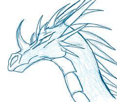 ice dragon sketch by thelittlewaterdragon on deviantart