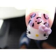 cute hello kitty nail designs i love this pedicure idea make me