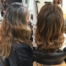 redlands hair stylist resistant white and gray hair coverage mixed
