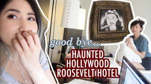 roosevelt halloween party 2017 leaving the haunted hollywood roosevelt hotel alodia vlog