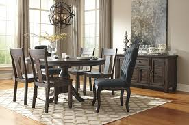 Ashley Furniture Kitchen Table Sets Ashley Furniture Trudell Round Drum Extension Pedestal Table Set