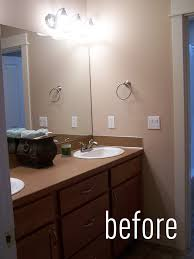 Design On A Dime Bathroom by Bathroom Makeover Before And After