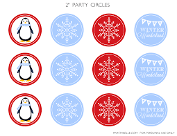 free winter wonderland party printables catch my party