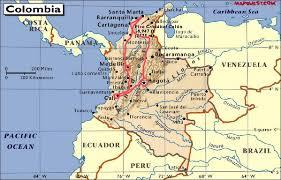 Colombian Map Sirman U0027s Medellin U0026 Cali Colombia 2006
