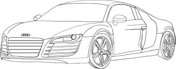 coluring page of nice audi car for kids coloring point