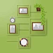 home interior shelves home interior design vector illustration stock vector illustration