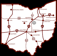 Canton Ohio Map by Go Skiing