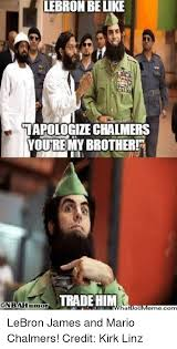 Mario Chalmers Meme - lebron be like i apologize chalmers youtremy brother trade him