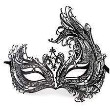 black and white masquerade mask buy deluxe laser cut boutique filigree metal masquerade mask black
