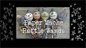 diy paper mache halloween u0026 christmas primitive rattle wands
