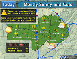 Muscle Shoals Alabama Map Huntsville Birmingham Hit Record Low Temperatures Following