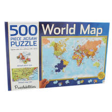 World Map Actual Size by World Map Jigsaw Puzzle 500 Piece Jigsaw Puzzles At The Works