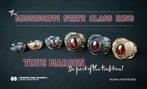 alabama class ring mississippi state development and alumni class ring