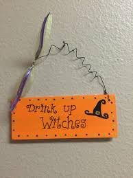 drink up witches funny halloween sign small halloween wooden