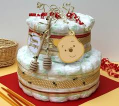 winnie the pooh baby shower ideas winnie the pooh cake honey colour diapers and honey