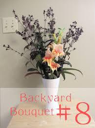 backyard bouquet 8 garden clean up in a vase