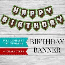 birthday banner printable minecraft happy birthday banner template