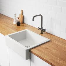 how to install an apron sink in an existing cabinet havsen apron front sink white 25x19