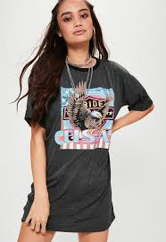 Plus Size Halloween Shirts by T Shirt Dresses Shop Oversized Graphic U0026 Band Missguided