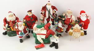 lot detail lot of collectible santa claus figures packers