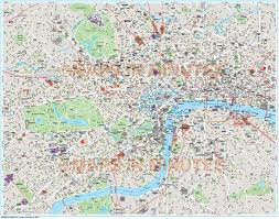 Map Of London England by Free Map Of London City New Zone