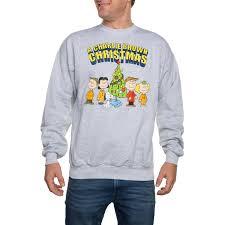 peanuts halloween shirt peanuts big men u0027s charlie brown christmas graphic sweatshirt 2xl
