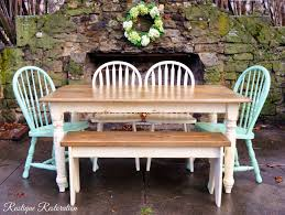 farmhouse table and chairs with bench rustique restoration distressed farmhouse table with a glaze