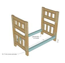 Free Bunk Bed Plans Pdf by Ana White Camp Style Bunk Beds For American Or 18 Dolls