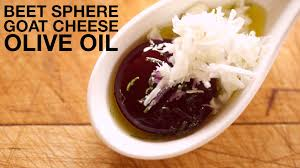 beet sphere spherification recipes pinterest goat cheese