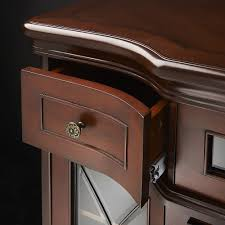colbert electric fireplace media console in antique mahogany