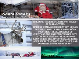 finland is the country on the list of santa s stops