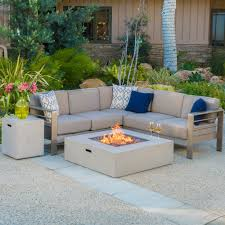 Wilson Fisher Patio Furniture Set - christopher knight home cape coral outdoor 5 piece v shaped sofa
