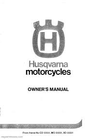 1983 1984 1985 husqvarna motorcycles owners workshop manual
