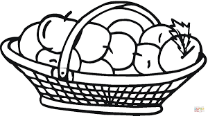 apple basket coloring page free printable coloring pages