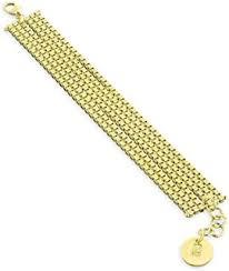 1ar by unoaerre 1ar by unoaerre 18kt gold plated glitter textured link