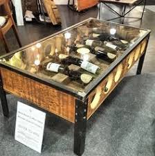Wine Coffee Table Reclaimed Wine Tasting Flight Console Table Furniture