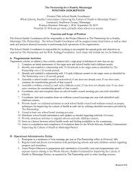 Job Description For Project Coordinator Health Coordinator Sunflower County The Partnership For