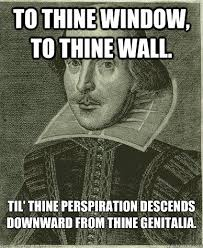 To The Window To The Wall Meme - to thine window to thine wall til thine perspiration descends